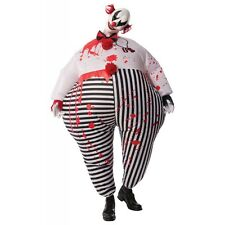 Scary Clown Costume Adult Evil Creepy Inflatable Halloween Fancy Dress