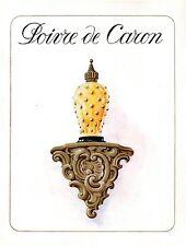 ▬► PUBLICITE ADVERTISING AD Produits de beauté CARON Poivre 1954