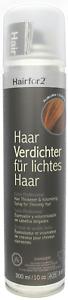 Hairfor2 Kastanienbraun Haarverdichter Haarauffüller 300ml Sprühhaar Cover