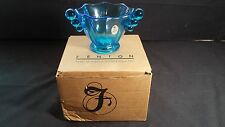 FENTON ART GLASS ~ Mulberry Blue Nut Dish or Bowl ~ Item# 4388 ML ~  MINT ~ NIB