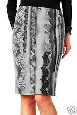 Marc Cain Luxury Skirt/Knitted Skirt Virgin Wool and Lace sz. gr.n1/34 NEW
