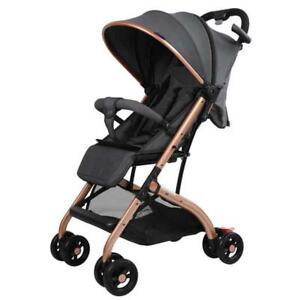 Smart Travel Pram Compact Lightweight Stroller Newborn One Hand Fold