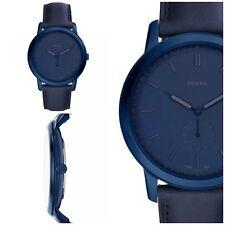 Fossil Minimalist Slim Blue Leather Band Men's Watch FS5448 New