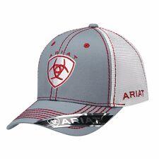 Ariat Western Mens Hat Baseball Cap Mesh Center Shield Logo One Size Red 1594106