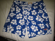 Men's HOLLISTER Royal Blue BOARD SHORTS SWIM SHORTS BATHING SUIT  Size XL