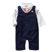 Baby Boy Formal*Party*Wedding*Tuxedo Waistcoat 1pc Outfit Suit in Three Colours