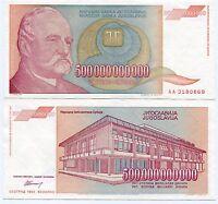 1993 500 Billion Dinaras Yugoslavia Banknote VF P137a Hyperinflation Currency