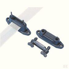 10  x SCREWLOCK 40MM TAPE INSULATORS Electric Fencing Fence Poly 20mm Screw