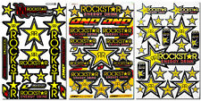 Rockstar Energy Extreme Sport Motocross Helmet ATV MTB BMX Graphic Kits Stickers
