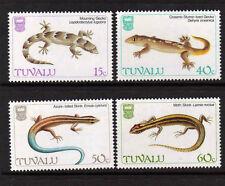 Tuvalu 1986 Lagartos Sg 402-405 Mnh.