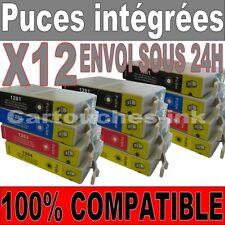 12 Cartouches encre non-OEM EPSON compatible T1281 T1282 T1283 T1284 T 1285