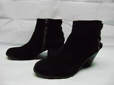 64a897d3c1fc7 Sam Edelman Ankle Heeled Boots Booties Buckles Black Suede Zip Up Women s  Size 8