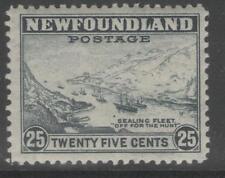 NEWFOUNDLAND SG288 1943 25c SLATE MTD MINT