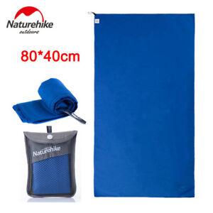 Blue 80*40cm Outdoor Travel Camping Quick Drying Towel Shower Bath Swim Beach