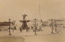PARIS c. 1890 - 2 Photos Place de La Concorde  Fontaine  Obélisque Panthéon - 28