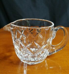 Vintage Cut Crystal Cream Milk Jug 13cm Spout To Handle 7.5cm Tall