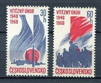 32917) Czechoslovakia 1968 MNH February Revolution 2v