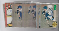 (61) card Saku Koivu mixed lot w/ (43) rookies, Montreal Canadiens star