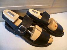 Charles Jourdan leather strap sandals UK 9 43 black open toe buckle Vibram sole