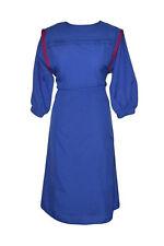 WOMEN'S/LADIES VINTAGE 1980s CLOTHES, BLUE DAY DRESS, 12