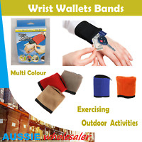 Au Wrist Band Gym Sweat Wallet Pouch Arm Bag Key Card Storage With Zipper Sport