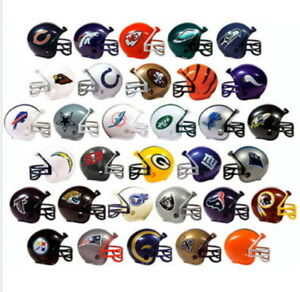 MINI NFL FOOTBALL HELMETS, COLLECTIBLE COMPLETE SET OF ALL 32 TEAMS USA