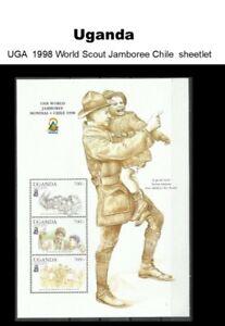 Stamps Uganda 1998 World Scout Jamboree Chile Sheetlet