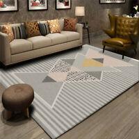 Modern Rugs Contemporary Area Carpet Crystal Velvet Rhombus Floor Mat Rug Home