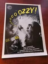 1984 Vintage 8X11 Album Promo Print Ad For Ozzy Osbourne Bark At The Moon