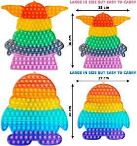 XL Push Pop Bubble Kids Toy It Special Needs Silent Sensory Fidget Autism 30cm