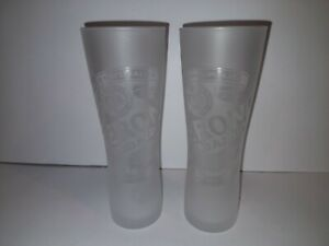 2 x FROSTED 300ML PERONI NASTRO AZZURRO BEER GLASSES