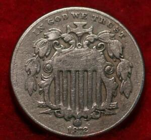 1872 Philadelphia Mint Shield Nickel