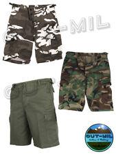 Pantalone corto militare da uomo Bermuda Short BDU RipStop Mimetico Verde