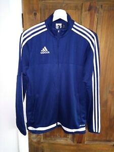 Adidas Climacool Sports Training Jacket In Size S Navy Blue White Logo & Detail