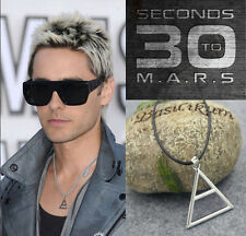 30 Seconds To Mars Triad Triangle Silver Necklace Echelon Pendant Jared Leto New