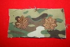 GENUINE US ARMY MTP MCU MULTICAM PAINTBALL MAJOR RANK INSIGNIA CLOTH