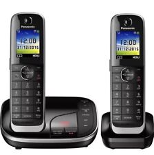 Panasonic TWIN phone Cordless Office Home Call Block Smart KX-TGJ322EB