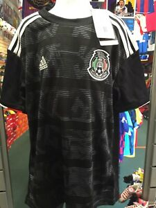 Adidas Mexico Home Black White Jersey Gold Cup 2019 Size YS Boy's Only
