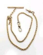2 Chain Pocket Watch Chain Unique Antique Victorian Yellow Gold