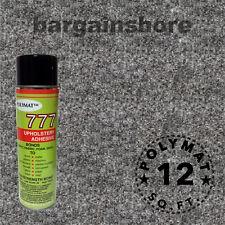 "3Ftx48""+1Can 777 Glue Charcoal Band Dj Case Rack Coffin Box Polymat Carpet"