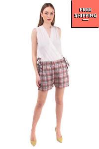 A. FRIEND By A.F.VANDEVORST Shorts Size 38 / M Tartan Pattern Drawstring Waist