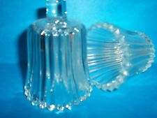Clear Ribbed Votive Cups Lot of 6 Homco Home Interiors