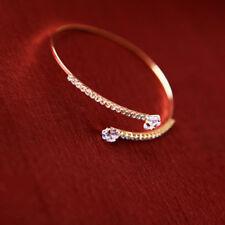 Double Heart Wrap Diamond Heart Zircon Bangle Jewelry Woman Wedding Gift