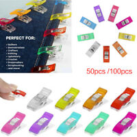 50/100PCS Wonder Clips Crafts Quilting Sewing Knitting Crochet 7 Color Clips