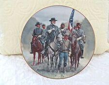 "Danbury Mint Legends In Gray ""Lee And Staff"" Civil War Plate Mort Kunstler"