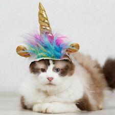Cat Unicorn Hat For Small Dog Cat Puppy Funny Adjustabale Cosplay Hat