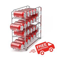2-Pack Stack-able Beverage Can Dispenser Rack Food Storage Kitchen Shelf Holder