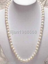 """Beau! 8-9mm Collier de perles de culture d'eau douce blanche 25 """""""