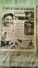 LOU GEHRIG PRINT AD 1936 - WILLIAMS SHAVE CREAM - HONUS WAGNER - PEPPER MARTIN -