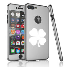 For iPhone 360° Thin Slim Case Cover + Screen Protector 4 Leaf Clover Shamrock
